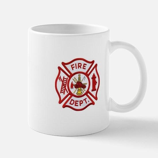 Fire Department Maltese Cross Mugs