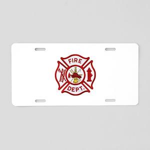Fire Department Maltese Cro Aluminum License Plate