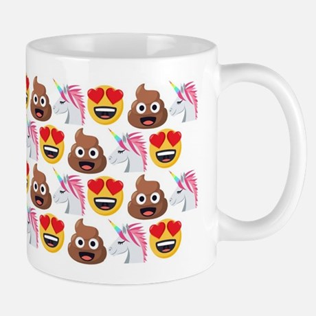 Emoji Poop Unicorn Heart Eyes 11 oz Ceramic Mug