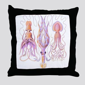 Octopus Trio Throw Pillow