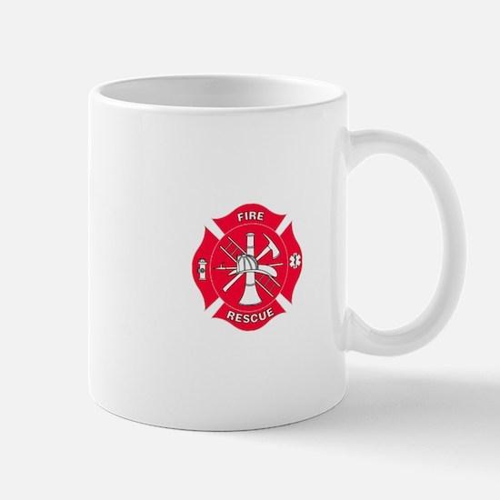 Red Maltese Fire Rescue Cross Mugs