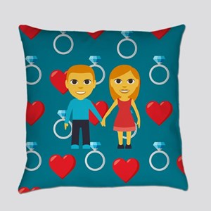 Emoji Engaged Everyday Pillow