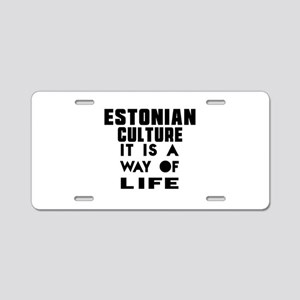 Estonian Culture It Is A Wa Aluminum License Plate