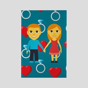 Emoji Engaged Rectangle Magnet