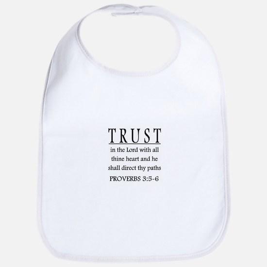 Trust the Lord Proverbs 3:5-6 Baby Bib