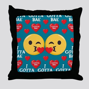 Emoji I Gotta Bae Throw Pillow