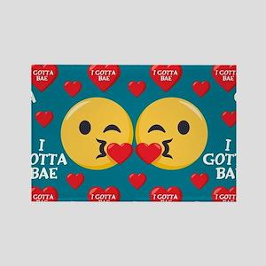 Emoji I Gotta Bae Rectangle Magnet