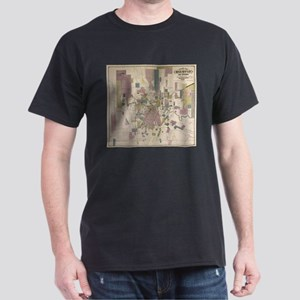 Vintage Map of Houston Texas (1895) T-Shirt