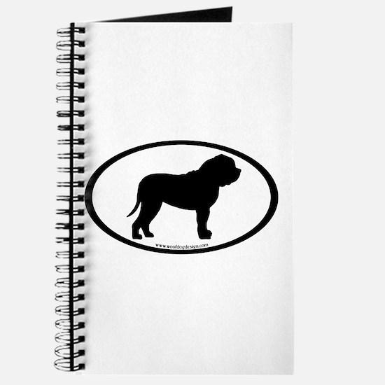 Oval Border Mastiff Dog Journal
