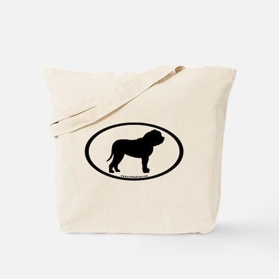 Oval Border Mastiff Dog Tote Bag