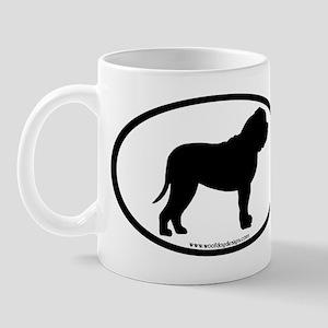 Oval Border Mastiff Dog Mug