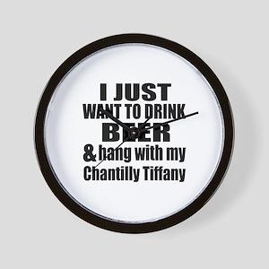 Hang With My Chantilly Tiffany Wall Clock