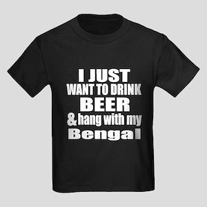 Hang With My Bengal Kids Dark T-Shirt