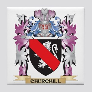 Churchill Coat of Arms (Family Crest) Tile Coaster