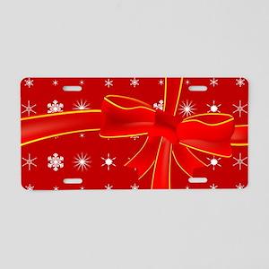 Christmas Present Aluminum License Plate