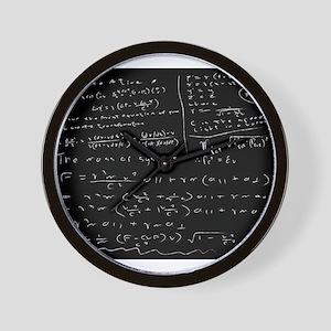 Untidy Chalk Board Wall Clock