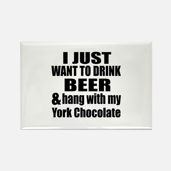 Hang With My York Chocolate Rectangle Magnet