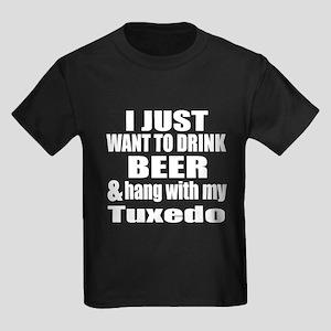 Hang With My Tuxedo Kids Dark T-Shirt