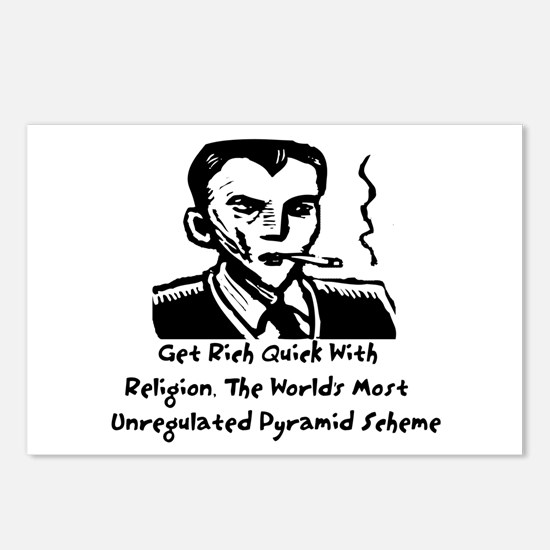 Religion Pyramid Scheme Postcards (Package of 8)