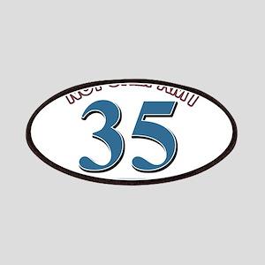 35 birthday design Patch