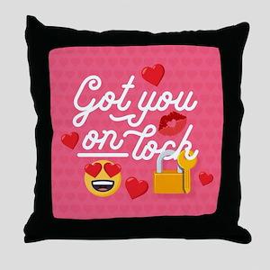 Emoji Got You On Lock Throw Pillow