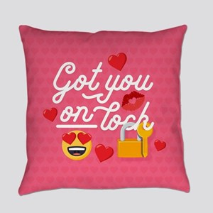 Emoji Got You On Lock Everyday Pillow