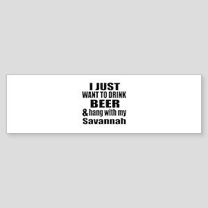 Hang With My Savannah Sticker (Bumper)