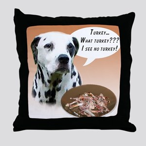 Dalmatian Turkey Throw Pillow