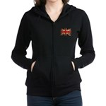 UK Flag Women's Zip Hoodie