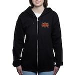 UK Flag Women's Zip Hoodie