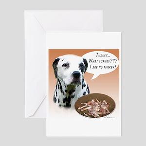 Dalmatian Turkey Greeting Card