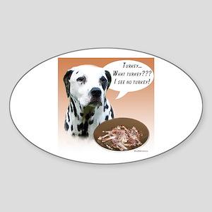 Dalmatian Turkey Oval Sticker