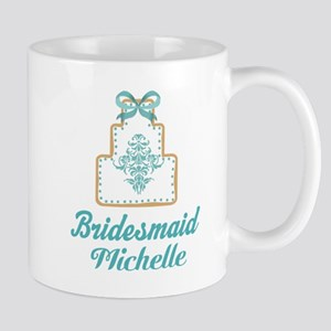 Bridesmaid Personalized Wedding cake Mugs