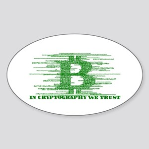 IN CRYPTOGRAPHY WE TRUST Sticker