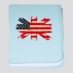 Freedom United baby blanket