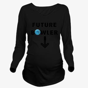 FUTURE BOWLER Long Sleeve Maternity T-Shirt