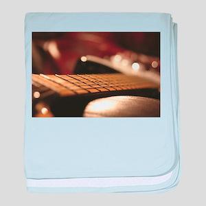 Close Up Guitar Blur baby blanket