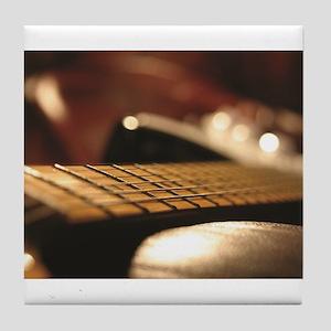 Close Up Guitar Blur Tile Coaster