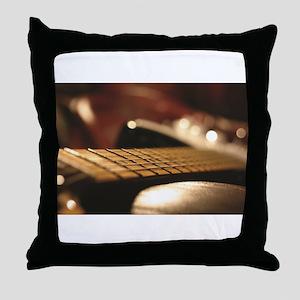 Close Up Guitar Blur Throw Pillow