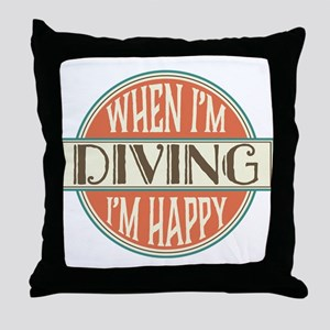 happy diver Throw Pillow
