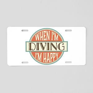 happy diver Aluminum License Plate