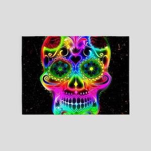 Skull20160604 5'x7'Area Rug