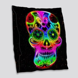 Skull20160604 Burlap Throw Pillow