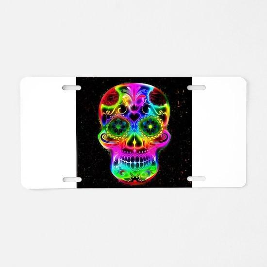 Skull20160604 Aluminum License Plate