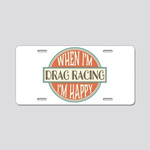 happy drag racer Aluminum License Plate