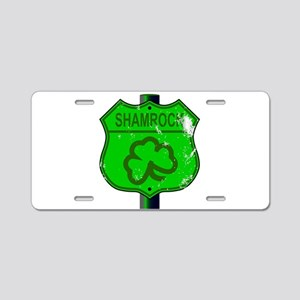 Spoof Shamrock Route 66 Sig Aluminum License Plate