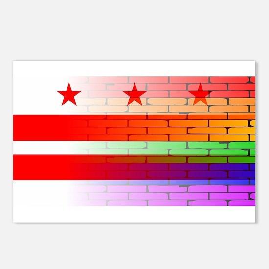 Rainbow Wall Washington D Postcards (Package of 8)