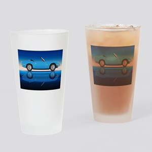 Old Style Sports Car Drinking Glass