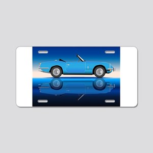 Old Style Sports Car Aluminum License Plate