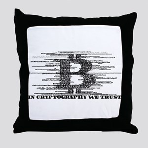 IN CRYPTOGRAPHY WE TRUST Throw Pillow